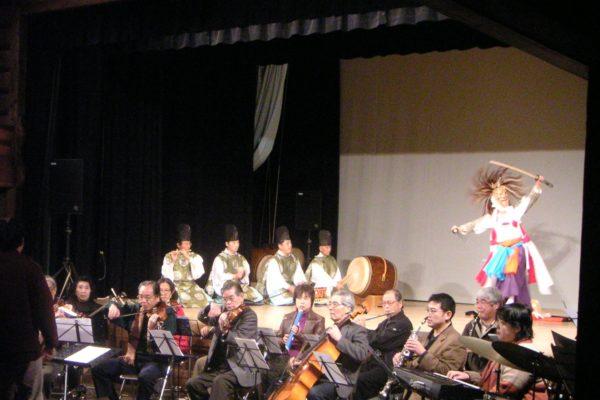 高知県梼原座での神楽とオーケストラ